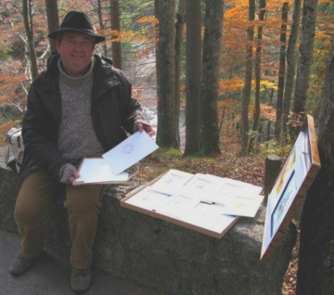 Paul Buchon artist at Neuschwanstein Castle