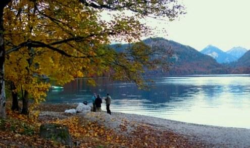 Paying fishing licence Alpsee Bavaria