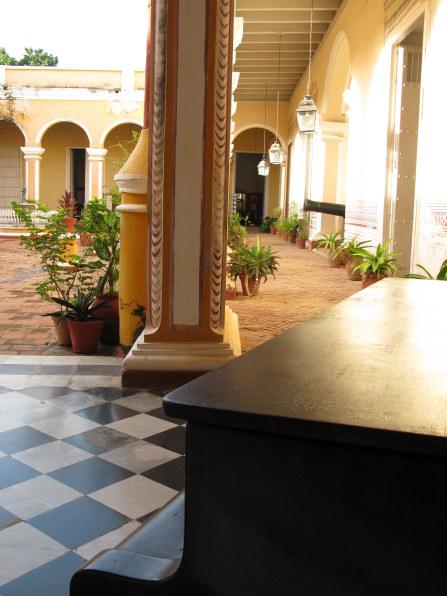 Piano in courtyard of Palacio Cantero Trinidad de Cuba