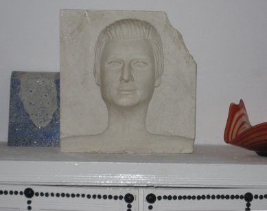 Plaster mask of George Sebastion in Dar Sebastian Hammamet Tunisia