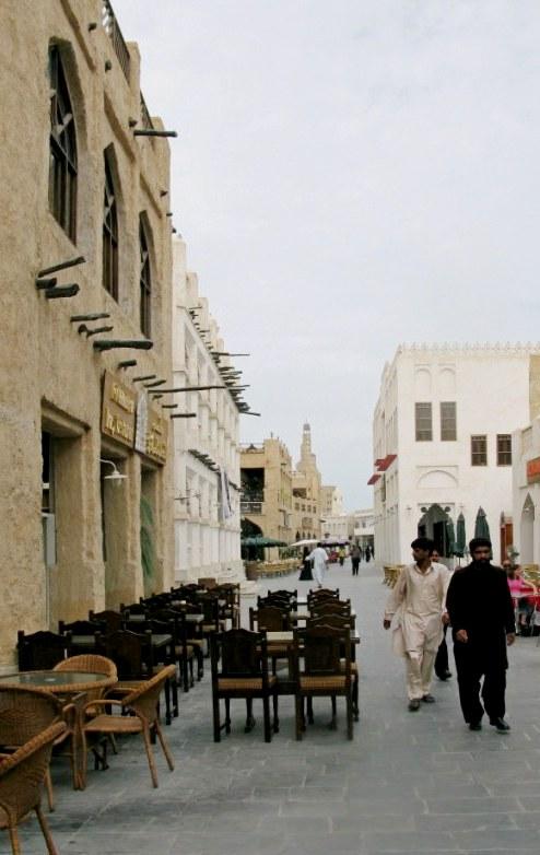 Qatar Doha Old Souk at prayer time