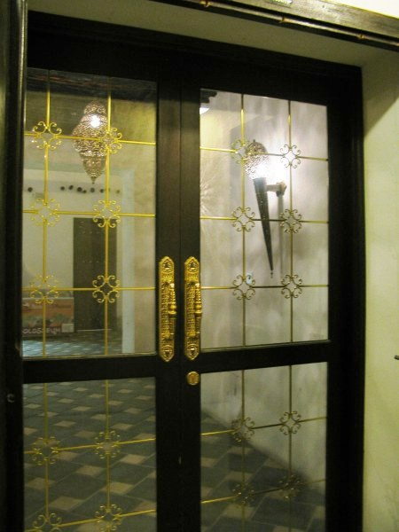Qatar Doha Old Souk glass door