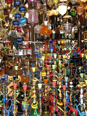 Qatar Doha Old Souk shisha pipes and lamps