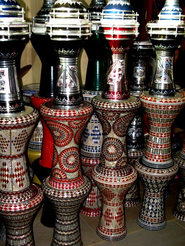 Qatar Doha Old Souk stacked drums