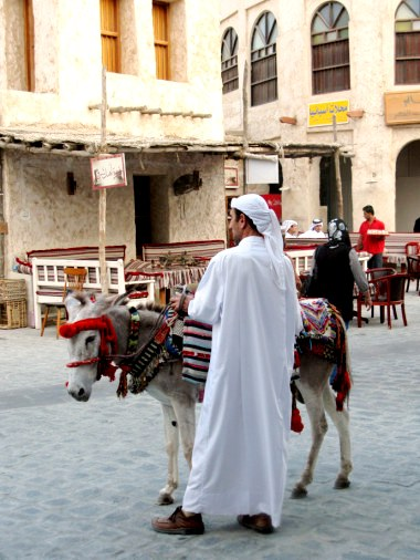 Qatar Doha Old Souk waiting donkey