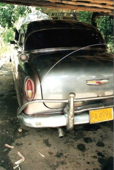 Rear of Classic Chevrolet - Viñales valley – Cuba
