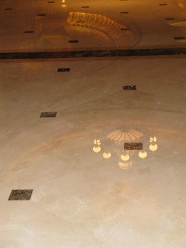 Reflected lights on entrance marble - Emirates Palace Hotel Abu Dhabi