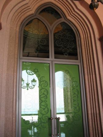 Reflected patterns Emirates Palace Hotel Abu Dhabi