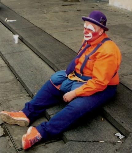 Resting clown in New Orleans