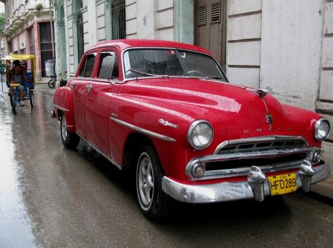 Restored-classic Dodge in Havana Old Town Cuba