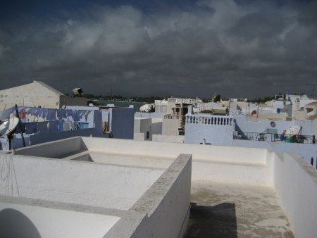 Rooftops of old town of Hammamet, Tunisia
