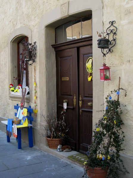 Rothenburg ob der Tauber Easter house decor