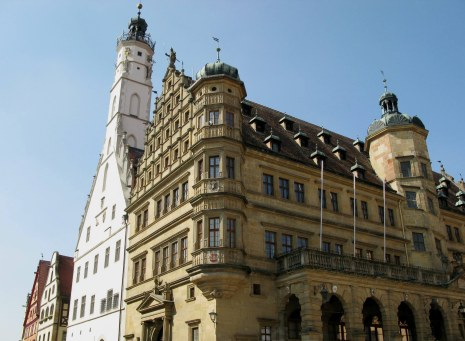 Rothenburg ob der Tauber Rathaus angle
