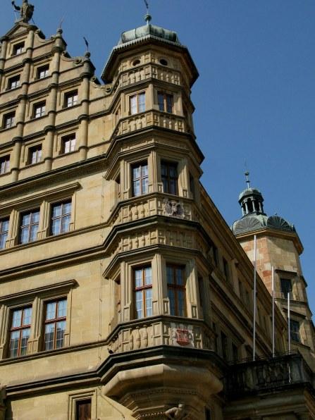 Rothenburg ob der Tauber Rathaus detail