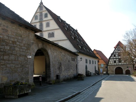 Rothenburg ob der Tauber roofline architecture