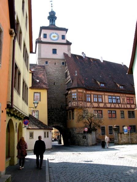 Rothenburg ob der Tauber Easter street corner