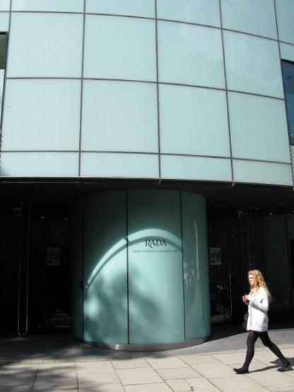 Royal Academy of Dramatic Arts (RADA) modern building in Bloomsbury London