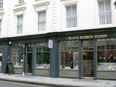 Rubber stamp shop in Bloomsbury London