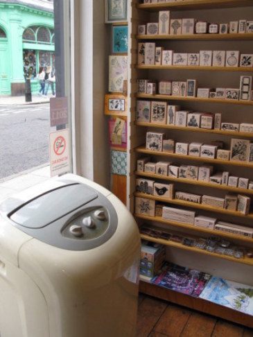 Rubber stamps in Bloomsbury London