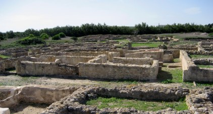 Ruins-of-Kerkouane town-houses in Tunisia