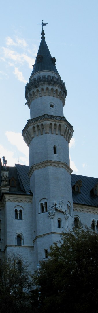Saint George on the tower of Neuschwanstein Castle Bavaria