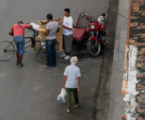 Sausage sellers Havana Cuba