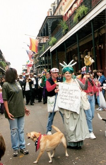 Send dogs message at Krewe of Barkus Parade New Orleans