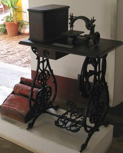 Sewing machine in Palacio Cantero Trinidad de Cuba