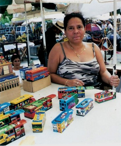 Stall selling Domino Boxes at Havana Craft Market in Cuba
