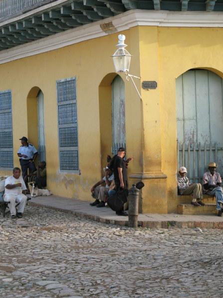 Street corner gathering place Trinidad de Cuba