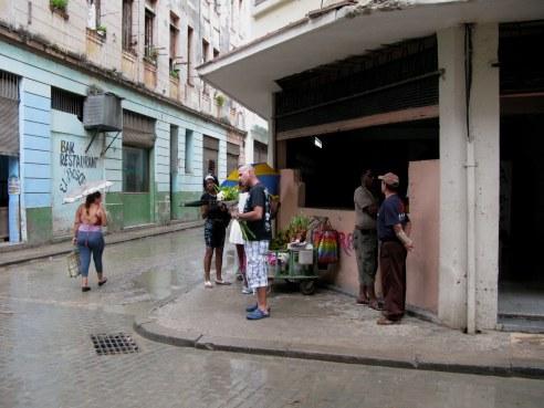Street corner vendor Havana Cuba