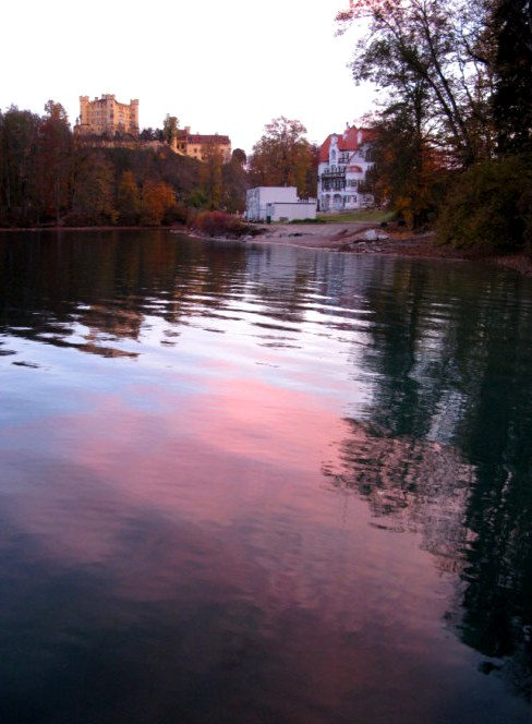 Sunrise colour at Hohenschwangau Castle Bavaria