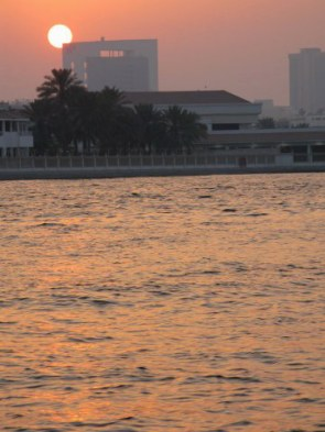 Sunset on Dubai Creek
