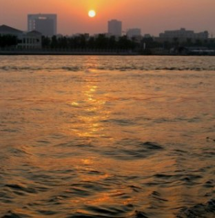 Sunset waters Dubai Creek