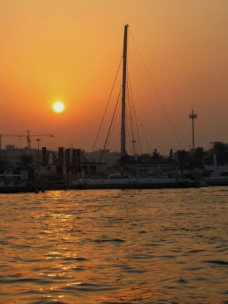 Sunset yachts on Dubai Creek