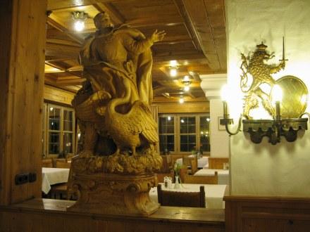 Swan King carving Hotel Müller Hohenschwangau Bavaria