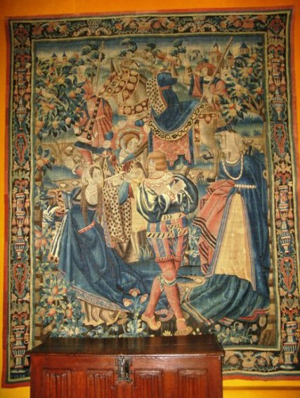 Tapestry of Knights in Hospices de Beaune
