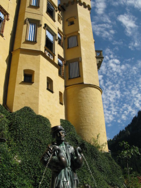 The little Gooseman Fountain Hohenschwangau Castle Bavaria