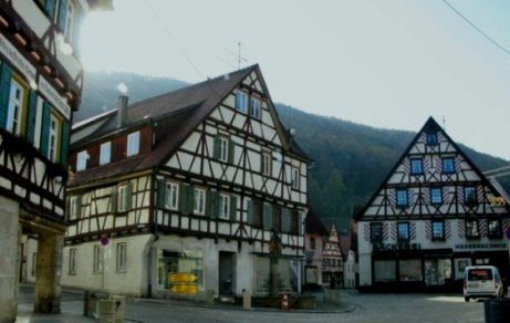 Timbered village houses in Bavaria