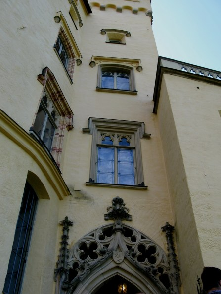 Tower above entrance to Hohenschwangau Castle Bavaria