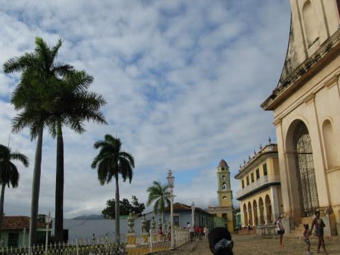 Tower on Plaza Mejor of Trinidad de Cuba