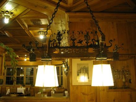 Traditional lamp Hotel Müller Hohenschwangau Bavaria