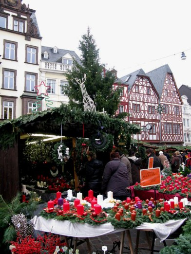 Trier Christmas Market advent candles