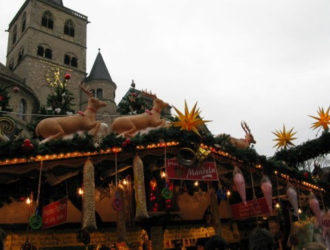 Trier Christmas Market booth before cathedral