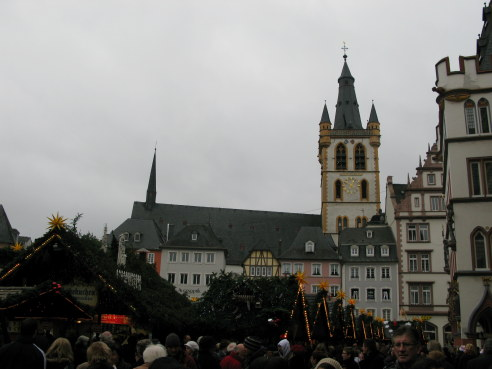 Trier Christmas Market booths