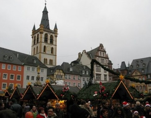 Trier Christmas Market in medieval square