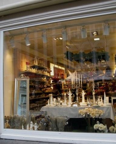 Trier Christmas Market shop reflection