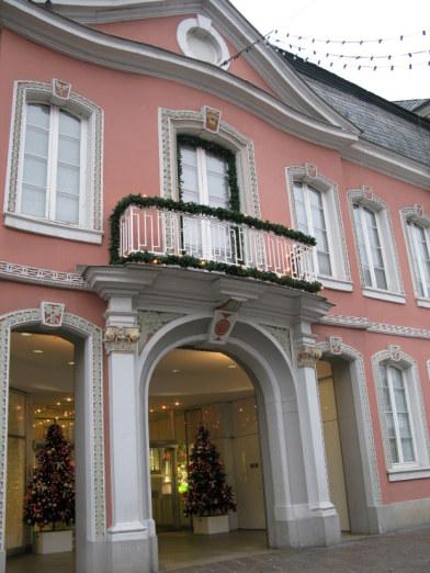 Trier Christmas Market surrounding stores