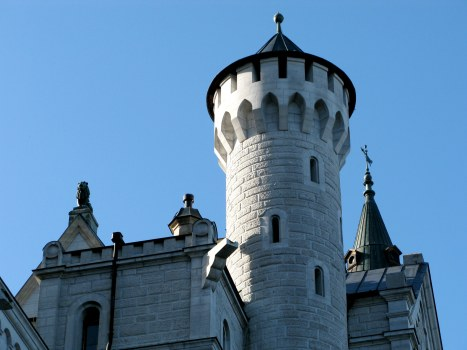 Turrets of Neuschwanstein Castle Bavaria