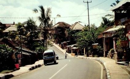 Ubud street in Bali